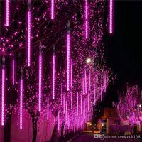 LED ışıkları 30 cm 50 cm 80 cm tüp Meteor duş yağmur çelenk Noel ağaçları Dekorasyon açık Bahçe Parkı Sokak Luces Navidad CRESTECH