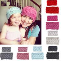 2pcs Mère et fille Bandeau Famille Matching cheveux bande tricotée hiver chaud mignon beau cadeau femmes fille Heaswear Accessoires