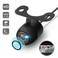 Nouvelle voiture Vision de la nuit HD Caméra de vision de voiture 170 ° de large angle de stationnement inverse Caméra imperméable CCD LED moniteur de sauvegarde automatique universelle