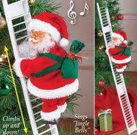 Scala di risalita elettrico Babbo Natale Figurine ornamento partito di natale fai da te Crafts Festival Navidad 2020 regalo 4.5