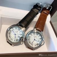 Nice design classico leiseure di lusso in pelle donne uomo Orologi amanti Blu quarzo Top relogies relojes moda Balon di alta qualità