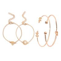 Ensembles de bracelets Ensemble de quatre pièces Ornements Bracelet à la mode en gros Bracelets pour femmes Bracelets