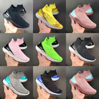 2019 Nouveau luxe Epic Chaussures d'escalade en tricot Réagir Sock pour Hommes Femmes Femmes Marque Designer Fashion Bottes Sports Athlétiques Sneakers Triple Noir
