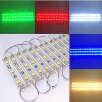 Módulo LED 5050 3 LED DC12V Módulos LED de diseño de publicidad a prueba de agua Iluminación súper brillante Blanco / Blanco cálido / Color RGB