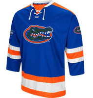 aaeb6e90d Vintage Florida Gators Hockey Jersey Embroidery Stitched Customize any  number and name Jerseys