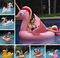 17 Styles inflável gigante Unicron flutua Tubes Piscina Toy Ride-On Piscina Unicron floating bed Swim Ring for 10pcs Água Esportes