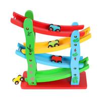 Детский планер инерциальная орбита шкив деревянные дорожки автомобили настольная игра Baby мультфильм лестница скользящая образовательная игрушки модели интеллектуальное развитие