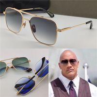 Novos óculos de sol 07 homens design metal vintage sunglasses estilo de moda quadro quadrado uv 400 lente com caso