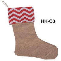 Christmas Socks Large Canvas Dots and Stripes Santa Bag For ...