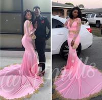 Sereia vestidos de baile 2020 vestidos de noite com mangas compridas vestidos de renda applique keyhole de volta vestido de festa de luxo 2k20