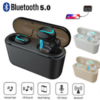 Q32 TWS Wireless Earphones Bluetooth Earphone 5.0 Wireless Earbuds Cuffia stereo 3D con scatola di ricarica 2600 mAh Banca di alimentazione