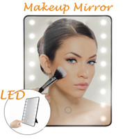 LED зеркало для макияжа с сенсорным диммер портативный складной косметическое зеркало с 16 светодиодом Столешница Ванная Комната Путешествия HHAa141