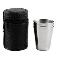 30ML 70ML 180ML en acier inoxydable camping tasse tasse camping en plein air randonnée pliant portable thé café tasse de bière