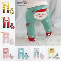 Set di calzate per bambini Set di calzature del fumetto Leggings a strisce del fumetto Cottone elastico Pantaloni da byddler morbido + set di calzini