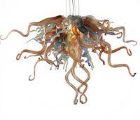 100% hecho a mano soplado de Murano lámpara de cristal Light Mini barato Chihuly vidrio estilo personalizados bulbos hechos LED colgantes de la cadena principal de la lámpara