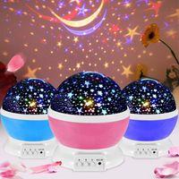 Lightme звезды Звездное небо LED Ночник проектор Луна лампы батареи USB Детские подарки Дети лампы Спальня проекционной лампы