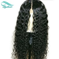 Bythair Middle Part Pre Plucked Brazilian Deep Curly Human H...