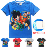 summer boys designer T- shirt children cartoon dragon ball co...
