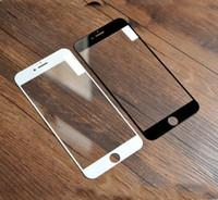 Verre d'impression en soie recouvert pour iphone X 8 7 6 Plus XR XS XS MAX Protecteur d'écran en verre trempé anti-rayures Film Aucun emballage de détail 9H