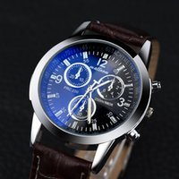 Fabulous hot sale men women watch Faux Leather Mens Blue Ray...