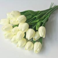 الزهور الزهور أكاليل 10PCS الزفاف قنص الزنبق الاصطناعي متعدد الألوان مصغرة بو توليب وهمية