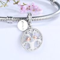 Charms in argento 925 che riscaldano la famiglia l'albero della vita perline fit autentici gioielli bracciali pandora fare regali fai da te valentines