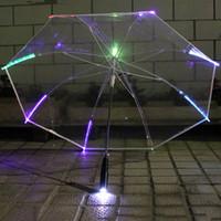 Светодиодный зонтик зонтик красочные светящиеся светодиодные цвет изменение многофункциональный ручка длинная ручка подарок рекламные зонтики