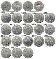 США Набор (1866 -1883) 20PCS Пять Cents Nickel Копирование монет Медел Craft Promotion Дешевой Фабрика цена хороших аксессуаров для дома