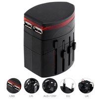 Hight qualidade All in one Universal World Travel AC Poder multi Adapter UE UK EUA AU 2 USB de carregamento para entregas