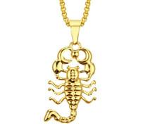 Hip Hop Scorpion Scorpion Colares para Homens Mulheres Religião Cristianismo Colar de Luxo Jóias Banhado A Ouro Cobre Zircons Twist Chain