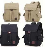 10pcs 2019 Backpack Bag Men Women Unisex Canvas Plain Drawst...