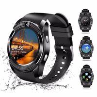 V8 smart watch telefone à prova d 'água suporte cartão sim telefone móvel para android iphone bluetooth relógio inteligente mini câmera smartphone