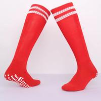 2019 1 Çift Pamuk Uzun Futbol Çorap kaymaz Futbol Çorapları Bisiklet Spor Çorap Yetişkin Erkekler ve Kadınlar için Hızlı Kuru ...