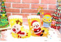 100шт DIY для детей ручной работы Материалы Kit Рождественские носки Санта-Клауса Повесьте украшения Детские ремесла