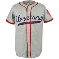 Cleveland Buckeyes 1946 Jersey Road Jersey 100% cousu Broderie Logos Vintage Baseball Jerseys Personnalisé Annommer Numéro Livraison gratuite