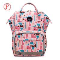 베이비 케어에 대한 새로운 패션 엄마 출산 기저귀 가방 대용량 아기 가방 여행 가방 디자이너 간호 가방