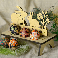 DIY Wooden Easter Egg Rack Easter Decoration For Home Shop W...