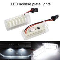 مصابيح ضوء 2PCS / لوط السيارات عدد LED لوحة ترخيص لفورد فوكس 5D فييستا الأبيض