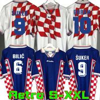 Retro 1998 Suker Jersey soccer Casa Fora camisa de futebol camisas Stanic Prosinecki Boban Bilic Jarni