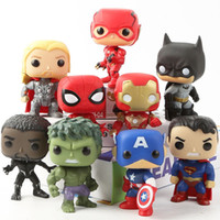 Marvel Avengers DC Justice League 9PCS / Set Figura de Acción Spider-Man Hulk Superman Batman Iron Man Decoración Muñeca de juguete