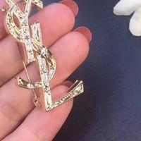 جديد مصمم وصول رسالة بروش النساء بنات فاخرة بروش البدلة طية صدر السترة دبوس الشهيرة مجوهرات هدية للحب جودة عالية