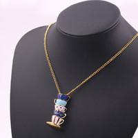 Regali di San Valentino Collane con ciondolo Catena di maglione lunga collana da tè europea e americana con marchio di moda Glaze Cup