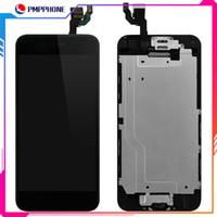iphone 6G 63S 6P 6S ücretsiz gönderim için ev düğmesi + ön kamera, dokunmatik ekran sayısallaştırıcı tam komple montaj değiştirmeler ile LCD Ekran