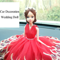 Творческий автомобиль украшения свадебная кукла брак украшения украшения ручной работы свадебные кружева кукла дисплей украшения игрушки поддельные венок