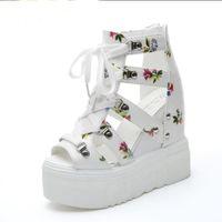 Sandalias de mujer Verano Nueva plataforma de moda Sandalias Cuñas Parte inferior gruesa Casual Zapatos de mujer Tacones altos Sandalias