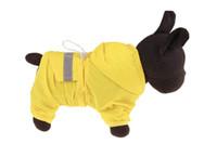 10PCS الحيوانات الأليفة معطف واق من المطر المعطف كلب المطر سترة الحيوانات الأليفة عاكس قطاع معطف واق من المطر الكلب البوليستر للماء لون المطر المعطف الأصفر التمويه