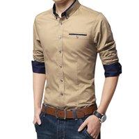 Четкий Повседневный социального Формальное рубашка мужчины длинный рукав рубашки бизнес Тонкий офис рубашки мужские хлопок мужские рубашки платья белый 4XL 5XL CX200620