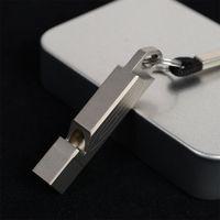 TC4 티타늄 티 휘슬 경량 휴대용 야외 생명을 구하는 열쇠 고리와 로프와 캠핑 자기 방어 생존 휘파람