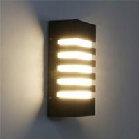 في الهواء الطلق الجدار الشمعدان 12W الصمام أضواء جدار مقاوم للماء تركيبات 3000K دافئ ضوء الحديث بار الجدار مصباح للشرفة مغطاة المدخل الخارجي الإضاءة