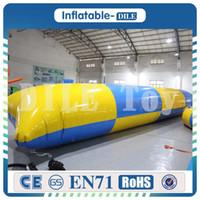 8 * 3 متر نفخ المياه القفز المنجنيق فقاعة 0.9 ملليمتر pvc نفخ الحراس وسادة ل outdoor الرياضة متعة الشخصية تخصيص